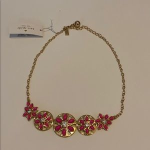 Kate spade pink and gold necklace